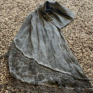 Accessories - Oil Washed Black/Gray Scarf